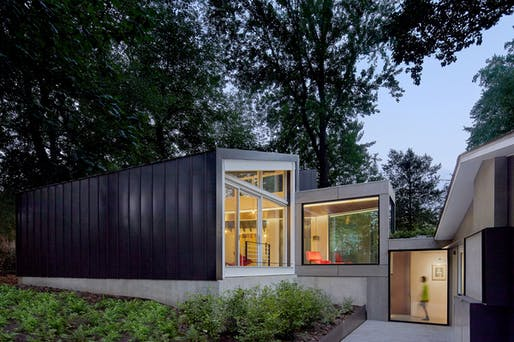 Dual Modern in Kensington, MD by KUBE Architecture; Photo: Hoachlander Davis Photography