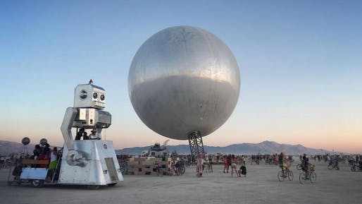Bjarke Ingels s giant mirrored Orb rises at Burning Man  a396bc912