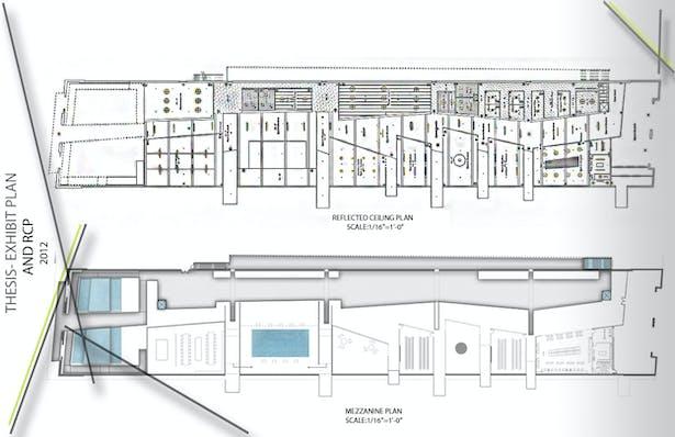 Mezzanine Plan and RCP