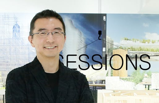 "Sou Fujimoto in the ""Futures of the Future"" exhibition, photo (c) JAPAN HOUSE Los Angeles"