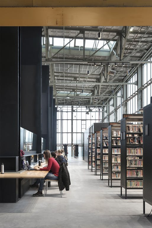 "<a href=""https://archinect.com/firms/project/150118924/lochal-public-library/150118925"">LocHal Library</a> in Tilburg, The Netherlands by <a href=""https://archinect.com/firms/cover/150118924/civic-architects"">Civic Architects</a> (architectural design); Braaksma & Roos Architectenbureau (restoration); <a href=""https://archinect.com/mecanoo"">Mecanoo </a>(interior design); <a..."