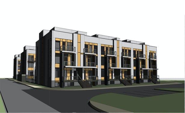 Building F Front 3D View