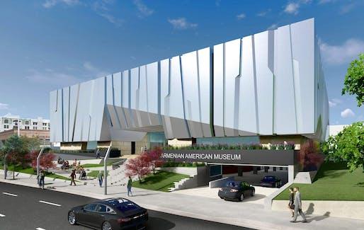 The Armenian American Museum is breaking ground on July 11. Rendering courtesy Armenian American Museum