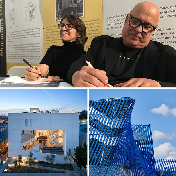 IMAGES clockwise from top * Angela Brooks and Larry Scarpa, photography by Jeff Durkin * ​Angle Lake Station and Plaza, architecture by Brooks + Scarpa, photography by Benjamin Benschneider * ​The Six Disabled Veteran Housing, architecture by Brooks + Scarpa, photography by Tara Wucjik