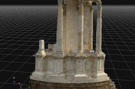 Survey, analysis and representation of architecture Templio delle Vestali in Rome in Rome