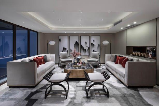 Guangzhou minmetals wanyue tai villa sample room design