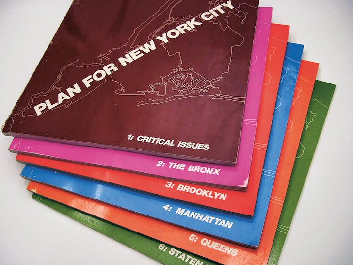 The six-volume Plan for New York City. Image courtesy of Park Books.