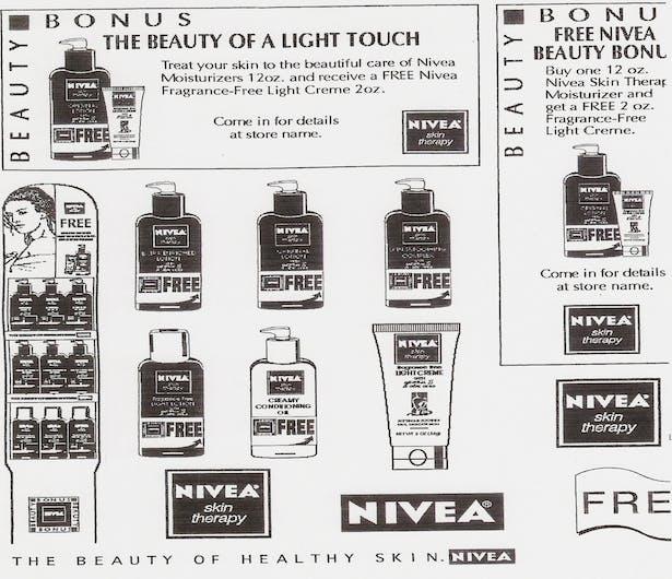 Sale Tear Sheet for Nivea Firm