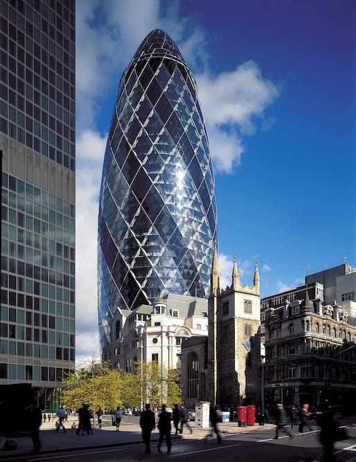 2004 - Swiss-RE Headquarter, London, England. Photo credit: Foster + Partners