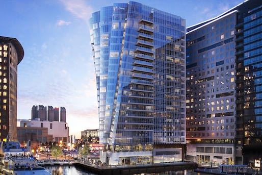 View of the St. Regis Residences in Boston. Image courtesy of Elkus Manfredi Architects.