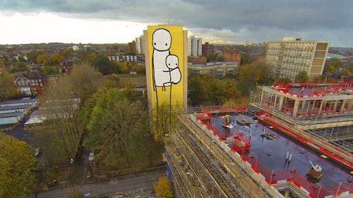 """Big Mother"" by Stik. Photo by Claude Crommelin/Joye Division; via streetartnews.net"