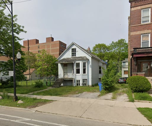 """Kanye West's original childhood home in Chicago. Photo: @ChiBuildings/<a href=""""https://twitter.com/ChiBuildings/status/1248627446401794054"""">Twitter</a>"""