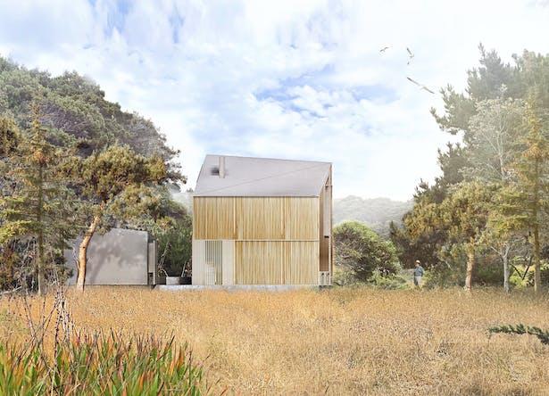 Black Point Beach House - Render (Faulkner Architects)