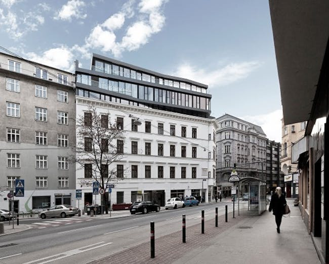 MG9 - Renovation and heightening Margaretenstraße in Vienna, Austria by Josef Weichenberger Architects Partner; Photo: Erika Mayer