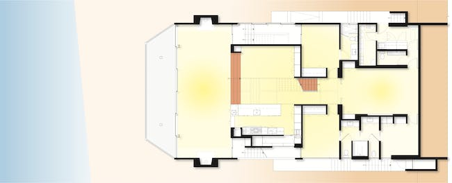 Living room level plan. Drawing courtesy SPF:a.