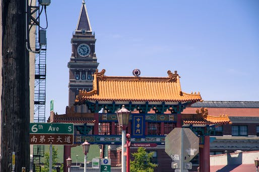 Historic Chinatown Gate in Seattle's Chinatown-International District. Image courtesy of ethnicseattle.com