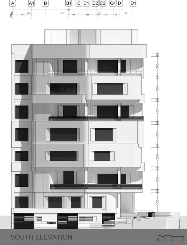 south elevation drawing