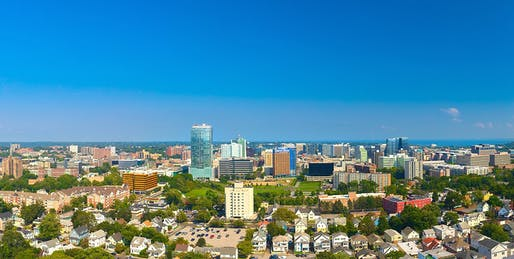"View of the growing Stamford, Connecticut skyline. Photo courtesy of Wikimedia user <a href=""https://en.wikipedia.org/wiki/File:Stamford_Connecticut_Skyline_Aug_2017.jpg""> John9474</a>"