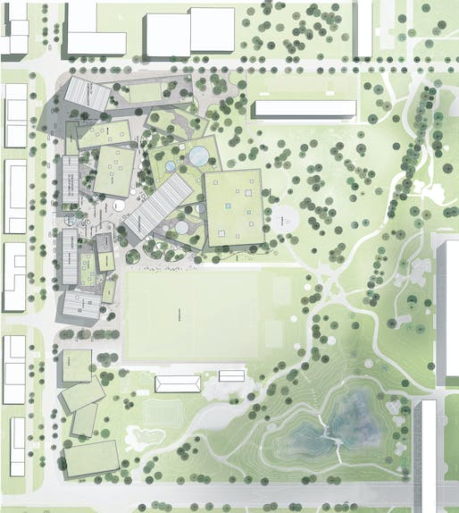 Site plan. Image: Schmidt Hammer Lassen Architects.