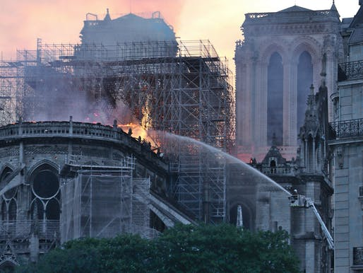 Notre Dame fire, photograph via Wikipedia