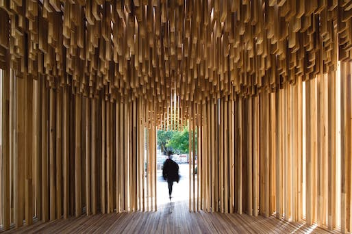 Sclera pavilion by Adjaye Associates. Photo: Leonardo Finotti.