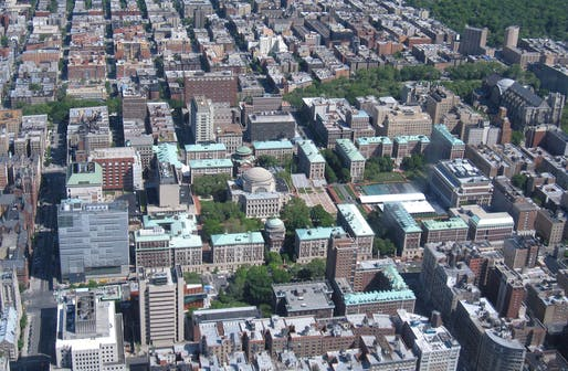 Aerial view of Columbia University's Morningside Heights campus. Photo: Gryffindor/Wikimedia Commons