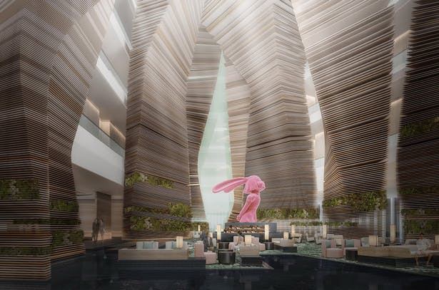 Banyan tree Hotel Chengdu_Lobby(The pink statue is X+Q Art's work 'I See Happiness')