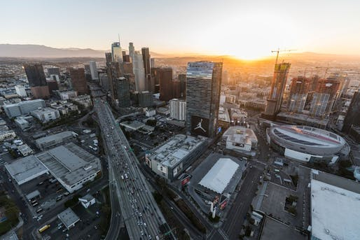 View of the South Park area of Los Angeles including Staples Center to be used during the 2028 Olympics. Image: Shutterstock.