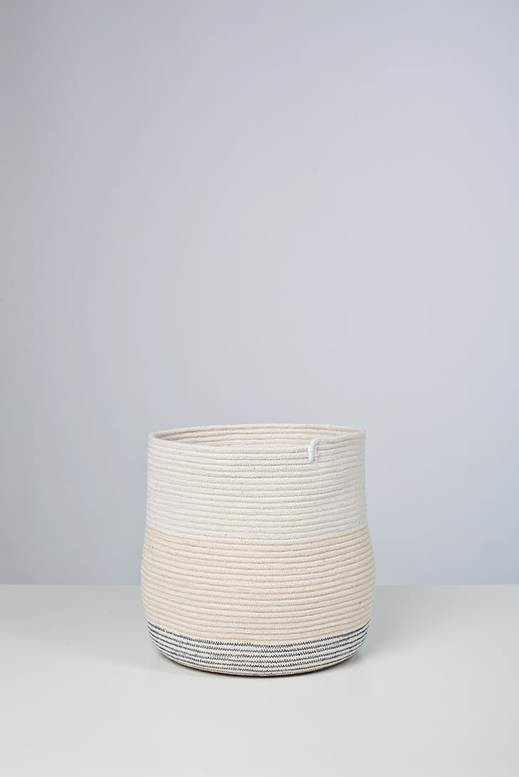 '100.1 basket' stitched cotton rope, 2011. Photo by Michael Popp