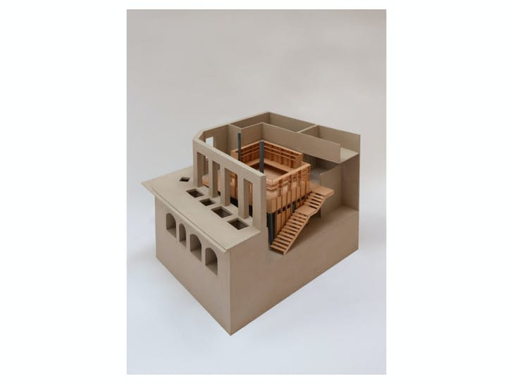 A model of the new studio image courtesy of Jonathan Tuckey Design