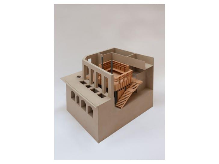A model of the new studio image courtesy of Jonathan Tuckey Design