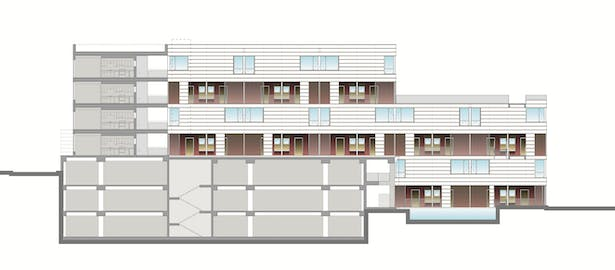 Interior Courtyard Elevation/Section