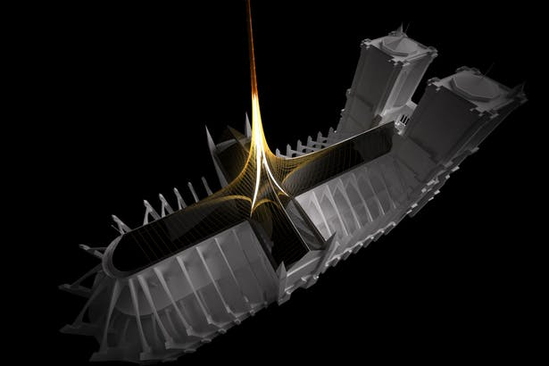 Notre Dame's Spine_OF STUDIO_Concept_Image_Aerial