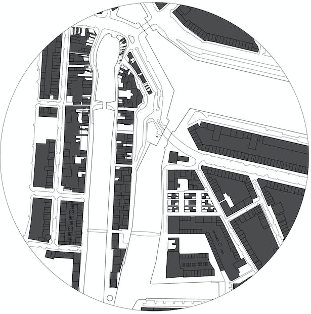 Nolli's map reworked for Delfshaven