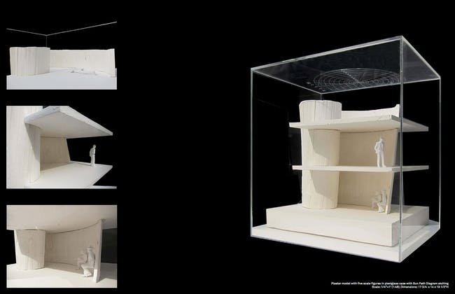 Finished plaster model with scale figures. Courtesy of Studio Christian Wassmann.