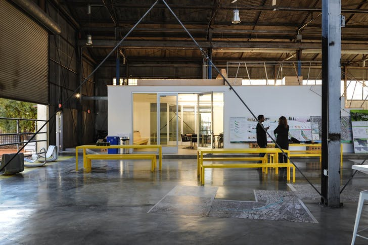 Studio-MLA's space in Los Angeles. Photo by Amanda Ortland © Archinect, from the previously published Studio Visits: Studio-MLA
