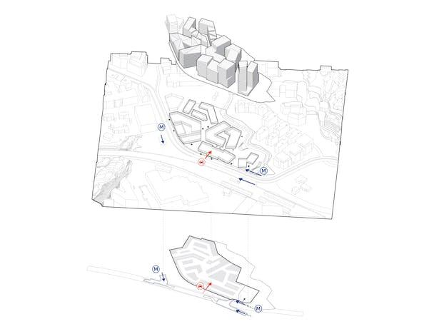 Access_Hoffsveien Skoeyen Oslo Masterplan_schmidt hammer lassen architects