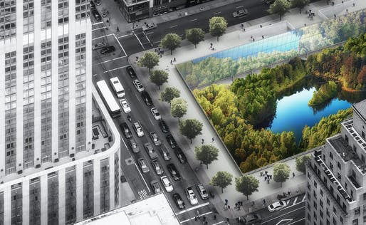 1st Prize - Urban Design (Concept) - New York Horizon by Yitan Sun & Jianshi Wu.