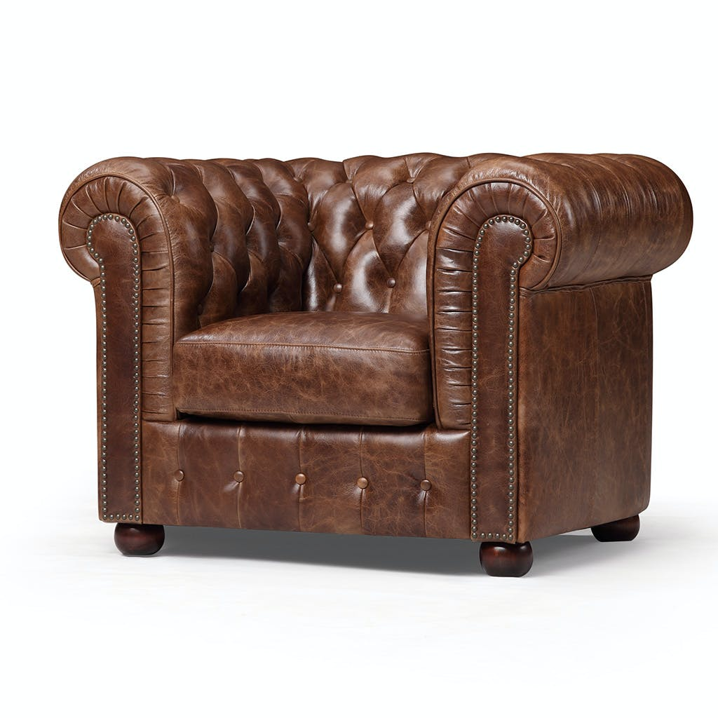 chair vintage chesterfield leather sofa dl ga c maple kardiel distressed