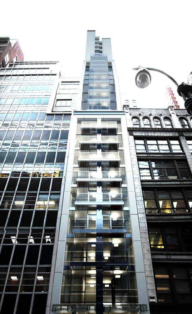 Rendering of the Gotham Hotel