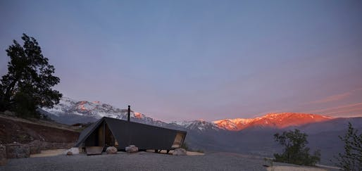 Mountaineer's Refuge located in San Esteban, Chile by Gonzalo Iturriaga Arquitectos​. Photo: Federico Cairoli