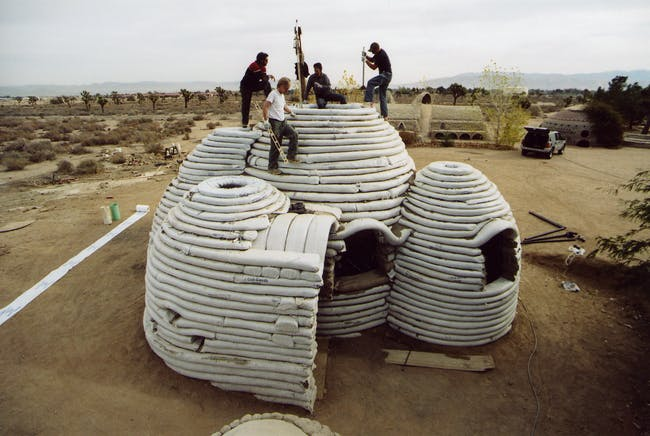 Cal-Earth's innovative sandbag shelters draw on the legacy of Hassan Fathy. Credit: Cal-Earth via Akdn.org
