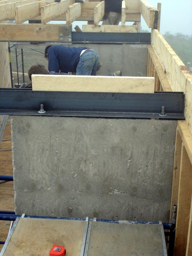 Concrete, Steel & Wood Composition
