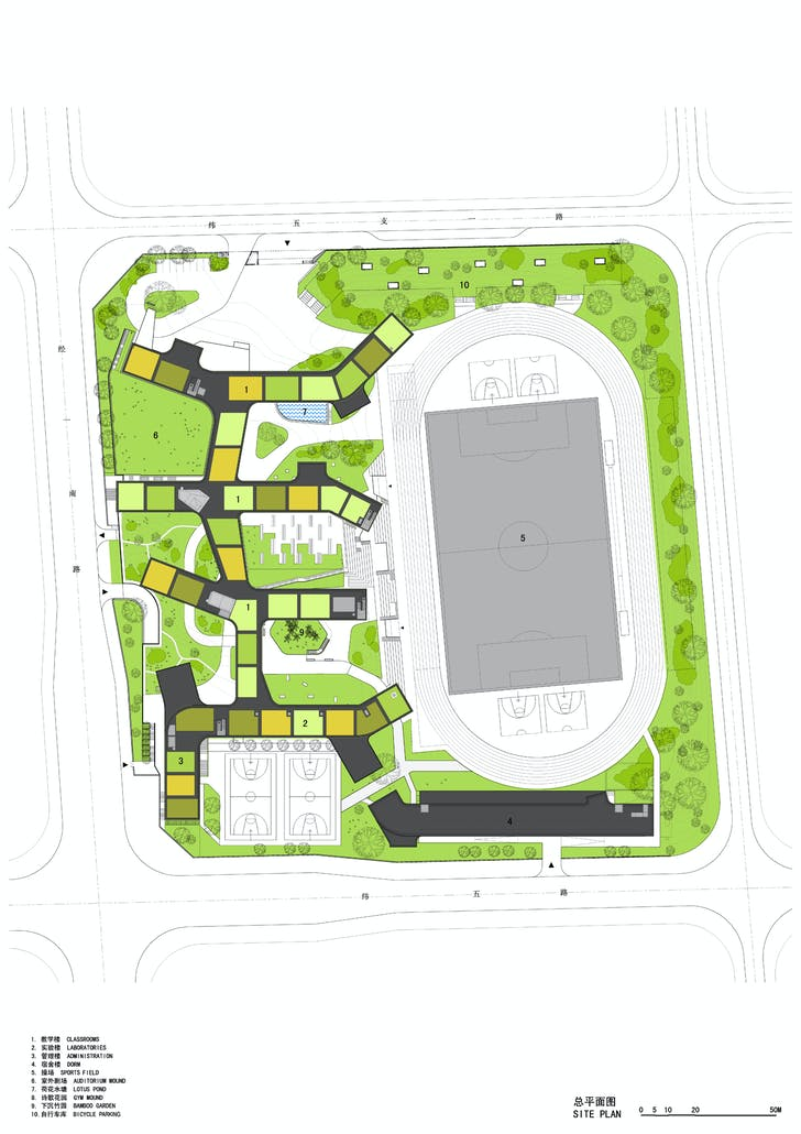Site plan. Image courtesy of OPEN Architecture