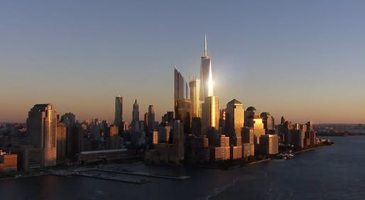 Still from 'Rising: Rebuilding Ground Zero' (Image: dbox)
