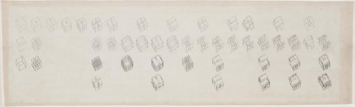 Peter Eisenman, axonometric sequence of diagrams, House II