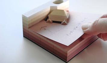 Excavate the hidden architecture models inside these unique note pads