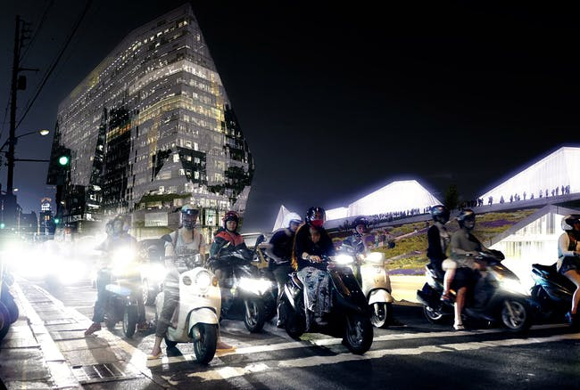 Night view from Zhongshan Road (Image: Labtop)