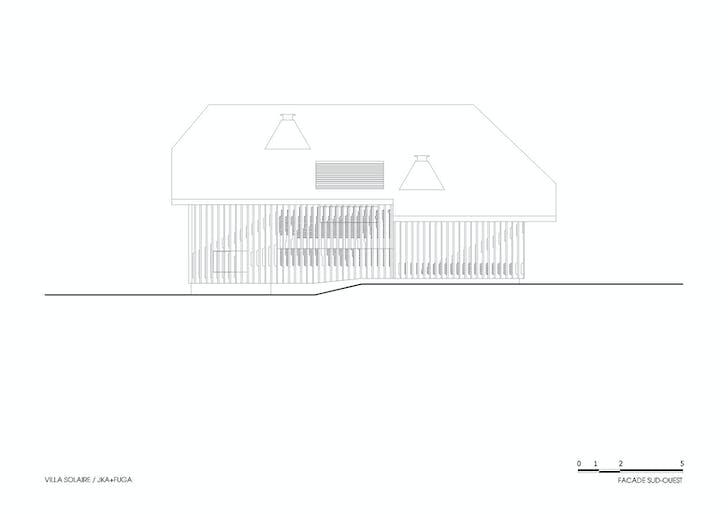 ELEVATION: Southwest façade