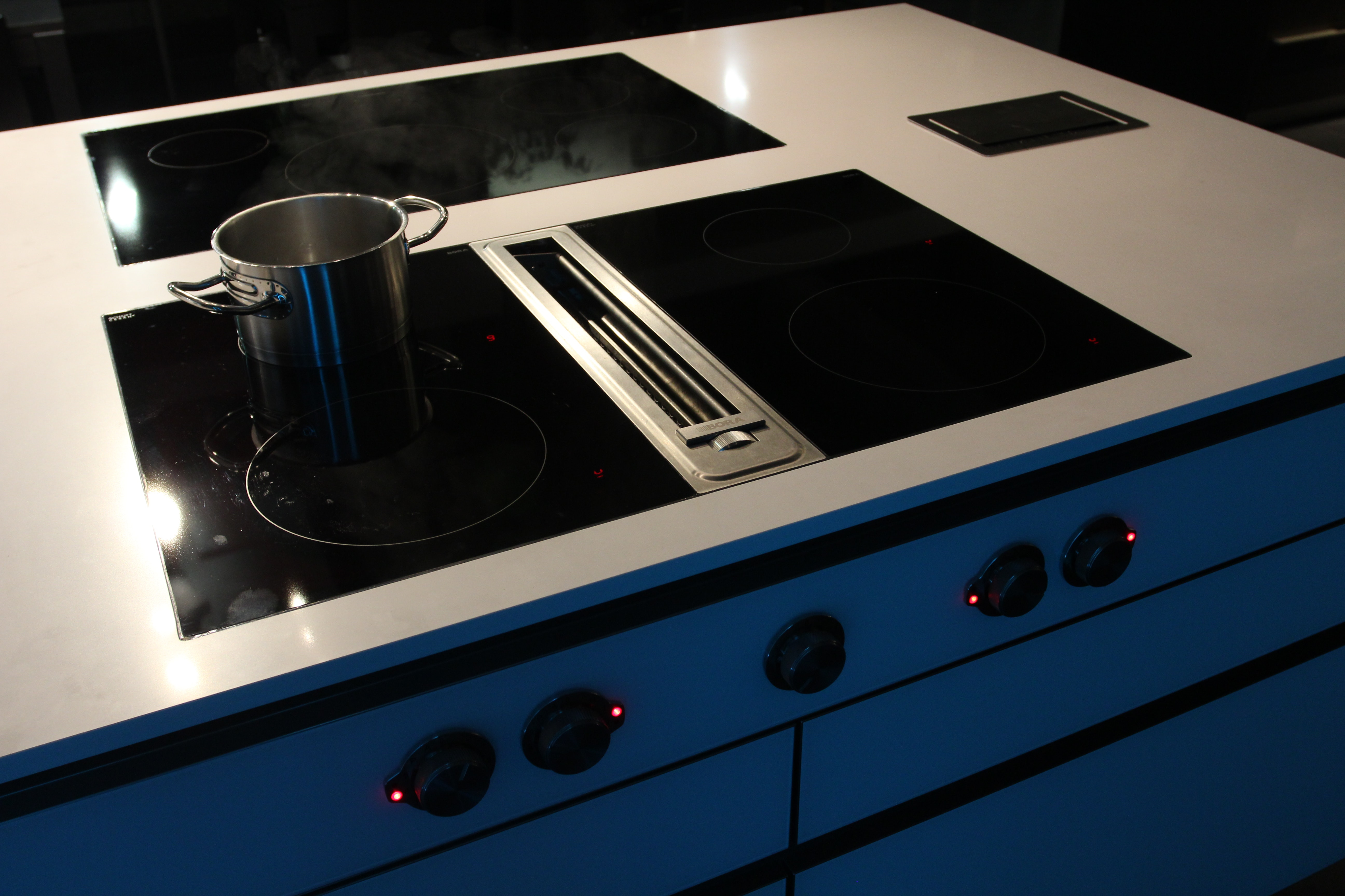 Charming Bora Downdraft System With 2 Induction Cooktops